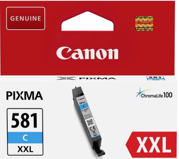 orig. Tintenpatrone Canon CLI-581XXLC cyan/blau, 11,7ml für ca. 800 Seiten