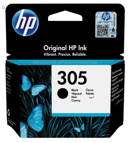 orig. HP Tintenpatrone 3YM61AE Nr. 305 Black/Schwarz