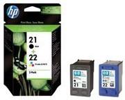 Orig. Tintenpatrone HP SD367AE Nr.21/22 Multipack schwarz/cyan/magenta/gelb