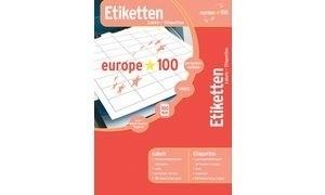 europe 100 Inkjet-,Laser&Kopier-Etiketten, 64,6x33,8mm