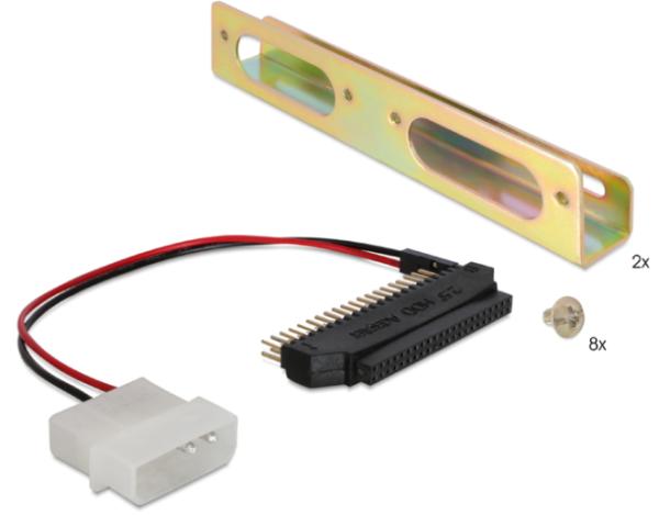 "Delock Adapter HDD 2½"" auf 3½"" inkl. Haltewinkel 61022"