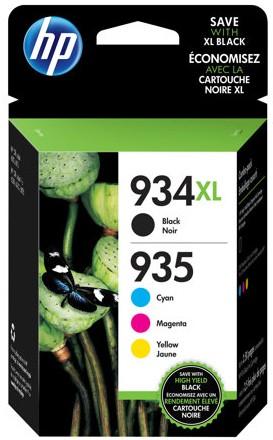 orig. Tintenpatrone HP X4E14AE 934XL 935XL 4er-Pack - Hohe Ergiebigkeit, Schwarz, Gelb, Cyan, Magen