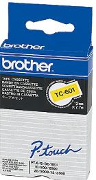 orig. Brother TC601/TC-601 Schriftbandkassette schwarz/gelb, 12 mm