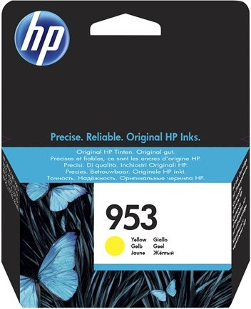 orig. Tintenpatrone HP 953 F6U14AE, yellow/gelb, ca. 700 Seiten