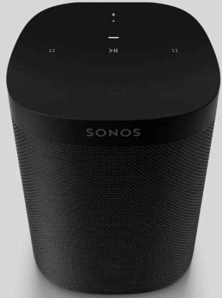 Sonos One Gen. 2 schwarz, mit Sprachsteuerung