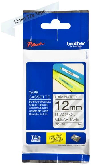 orig. Brother TZE-131 Schriftbandkassette transparent/schwarz