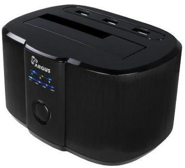 Inter-Tech Dockingstation GD-PD05U Schwarz USB 3.0