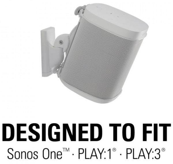 Sanus WSWM21-W2 Wandhalter für Sonos One, PLAY:1 oder PLAY:3 weiß