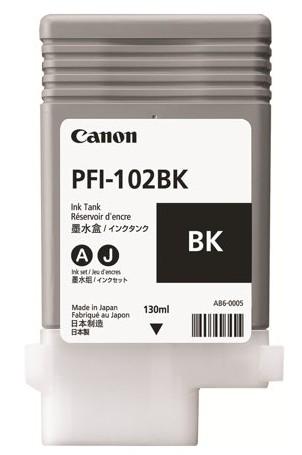 orig. Tintenpatrone Canon PFI-102BK Black/Schwarz