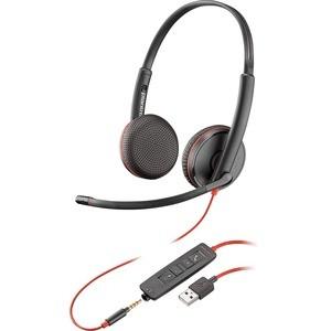 Poly Plantronics Blackwire C3225 Kabel Kopfbügel Stereo Headset - Schwarz - Ohraufliegend -
