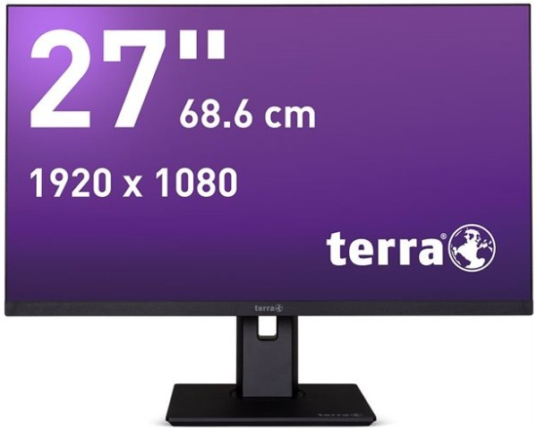 TERRA LED 2763W PV schwarz DP/HDMI Greenline Plus
