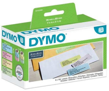DYMO LabelWriter Adress Etiketten groß farbig89x28