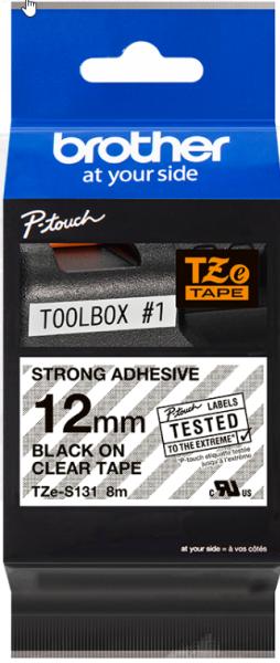 orig. Brother TZeS131/TZeS-131 Schriftbandkassette, transparent/schwarz