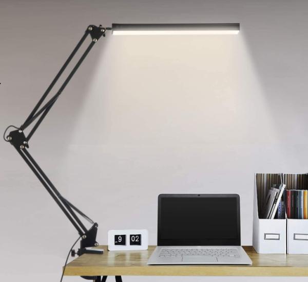 FeinTech LED Display Klemmleuchte schwarz LTL00700