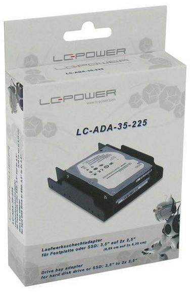 """LC-Power Adapter 2x2,5"""" zu 3,5"""" Montagekit/Einbaurahmen"""