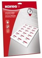 Kores Universal-Etiketten, 70,0 x 35,0 mm, weiß, GP