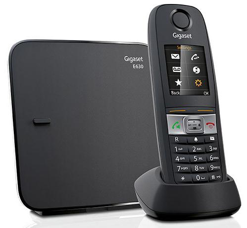 Gigaset E630 Dect Schnurlostelefon Analog-Telefon Schwarz