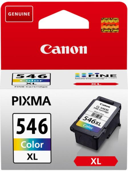 orig. Tintenpatrone Canon CL-546XL Color/Farbe 13ml, 300 Seiten