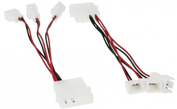 InLine Lüfter Adapterkabel 12V zu 5V, für 3 Lüfter