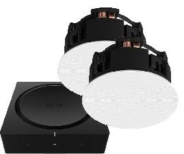 Set - Sonos AMP mit Sonos In-Ceiling Deckenlautsprecher (Paar)