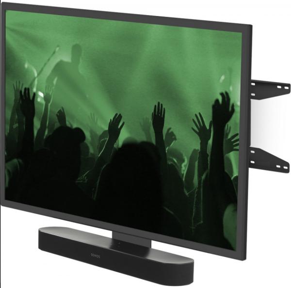 Flexson FLXBCM651021 TV-Stand für Sonos Beam oder Playbar schwarz