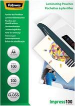Fellowes Laminierfolientasche, DIN A3, glänzend, 200 mic2 x 100 mic (Impress), 100 Stk