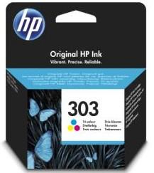 orig. HP Tintenpatrone T6N01AE Nr. 303 color Cyan/Magenta/Gelb ca. 165 Seiten