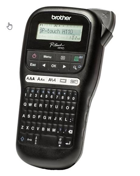 brother P-touch PT-H110, Beschriftungsgerät 6-35 mm, max. Rollengröße 12mm