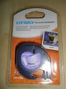 DYMO Letratag Plastik Etiketten 12mmx4m Clear