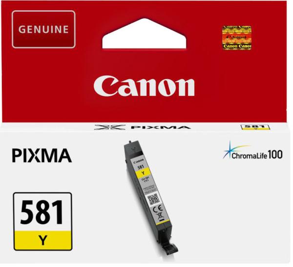 orig. Tintenpatrone Canon CLI-581Y yellow/gelb 5,6ml für ca. 250 Seiten