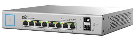 Ubiquiti Switch UniFi 8xRJ45 GBit/2xSFP Managed PoE+ (150W) Fanless