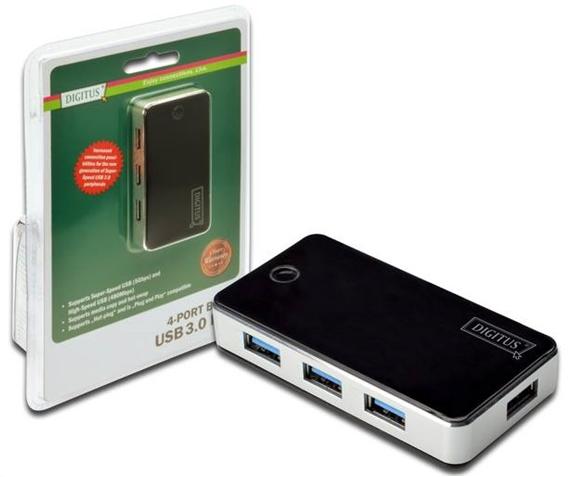 DIGITUS USB3.0 Hub 4-port DA-70231 inkl. Netzteil