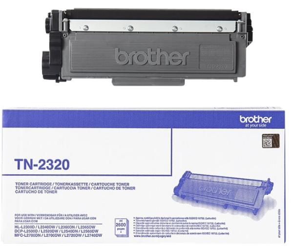orig. Toner Brother TN-2320 ca. 2.600 Seiten Black/Schwarz