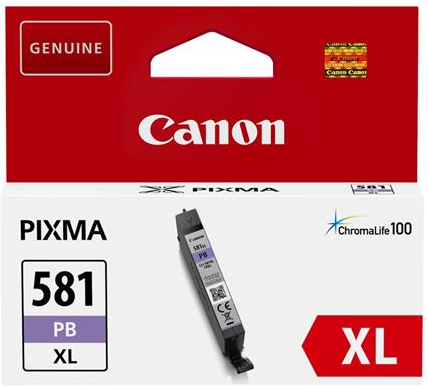 orig. Tintenpatrone Canon CLI-581XLPB photo blue/blau, 8,3ml für ca. 500 Seiten