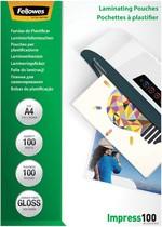 Fellowes Laminierfolientasche, DIN A4, glänzend, 200 mic2 x 100 mic - 100 Stk