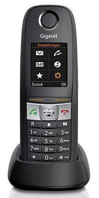Gigaset E630HX Dect Schnurlostelefon Analog-Telefon mit Ladeschlale Schwarz