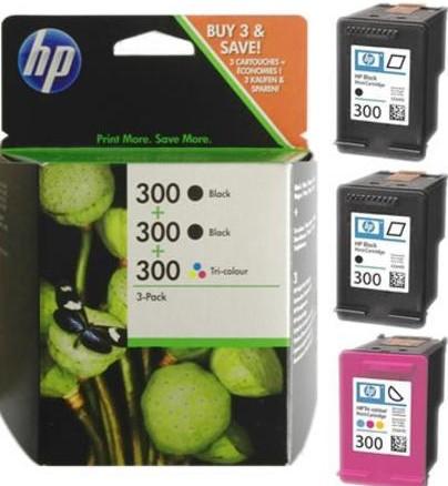 orig. Tintenpatrone HP SD518AE/Nr. 300, Multipack bk/c/y/m