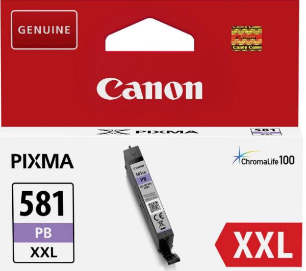 orig. Tintenpatrone Canon CLI-581XXLPB photo blue/blau, 11,7ml für ca. 800 Seiten