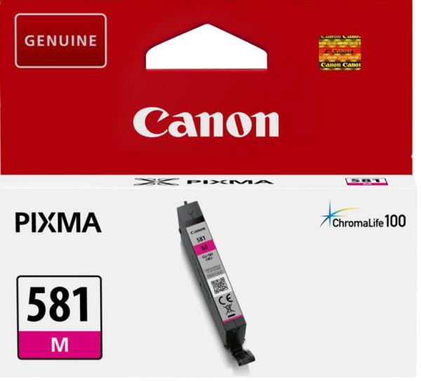orig. Tintenpatrone Canon CLI-581M Magenta/rot, 5,6ml für ca. 250 Seiten