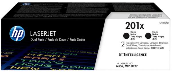orig. Toner HP Nr.201X CF400XD Cartridge black/schwarz 2x2.800 Seiten Doppelpack