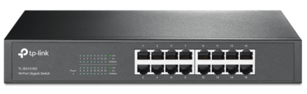 TP-Link TL-SG1016D 16-Port Gigabit Switch - Switch - unmanaged - 16 x 10/100/1000 - Desktop