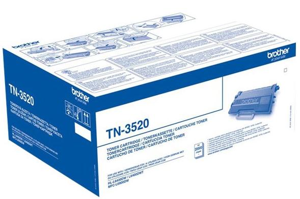 orig. Brother Toner TN-3520 black/Schwarz, ca. 20.000 Seiten