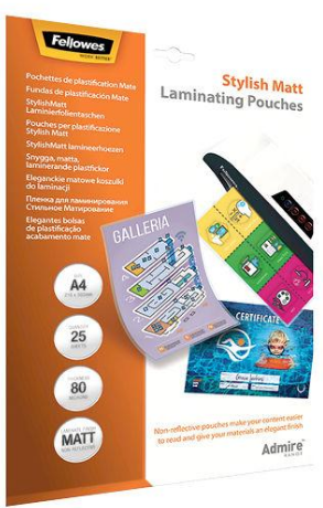 Fellowes Laminierfolientasche, DIN A4, matt, 160 mic 2 x 80 mic (Enhance), 25 Stk
