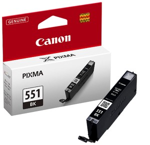 orig. CANON CLI-551 BK Tinte black/Schwarz fuer Pixma MG 6350 ~330 Seiten