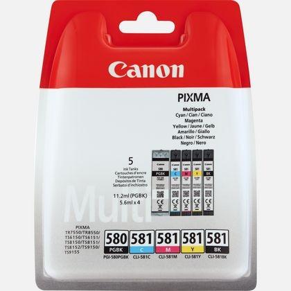 orig. Tintenpatrone Canon PGI-580 + CLI-581 Multi C/M/Y/BK